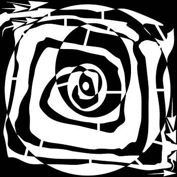 Crude Spiral with Circles Maze  by Yonatan Frimer Maze Artist