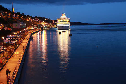 Cruise Liner at Cobh Harbour by Maeve O Connell