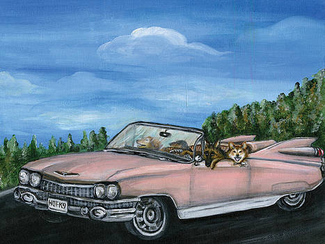 Cruisin in the pink caddy by Kim Arre-gerber