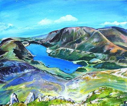 Crummock Water from Red Pike by Robina Osbourne