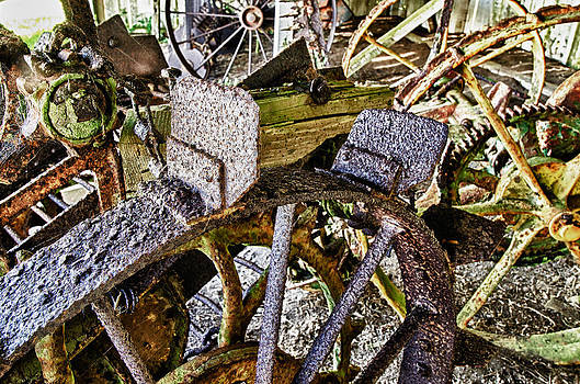 Crusty Rusty Tractor Wheels by Robert Rus