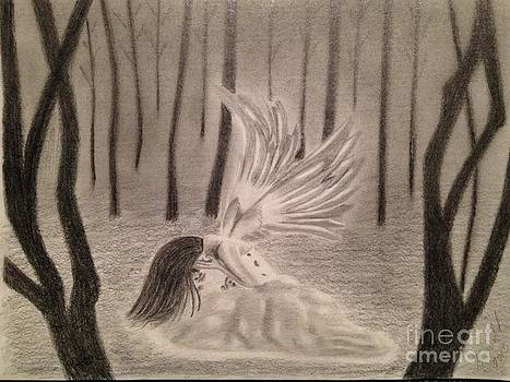 Crying Angel by Sharon Clissold