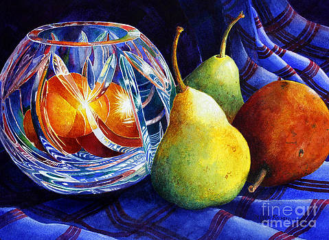 Crystal and Pears by Roger Rockefeller