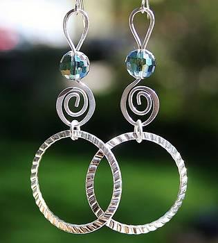 Crystal Ball Earrings by Kelly Nicodemus-Miller