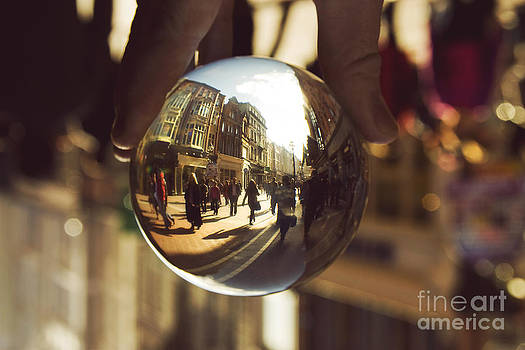 Crystal Ball on Grafton Street Dublin by Catherine MacBride