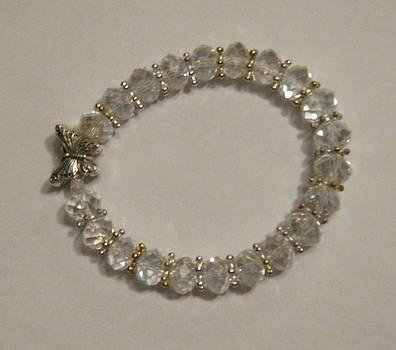 Crystal Butterfly Bracelet by Fatima Pardhan
