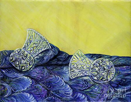 Crystal Vase Duo Still Life by Gail Darnell
