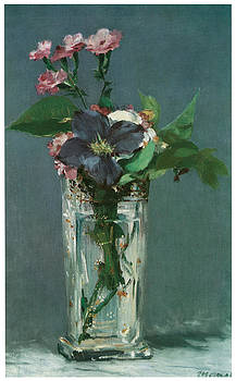 Edouard Manet - Crystal Vase with Flowers