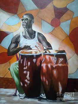 Cuban Drummer by Carol Northington