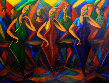 Cubism Music I by Marina R Burch