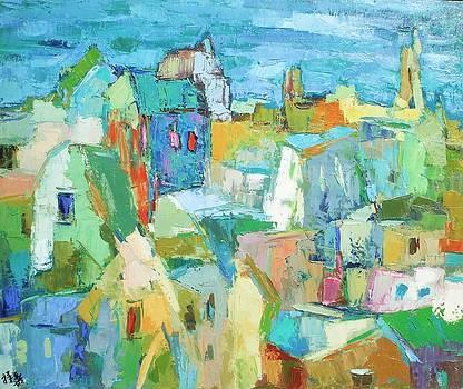 Cubist village 2 by Siang Hua Wang