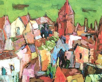 Cubist village by Siang Hua Wang