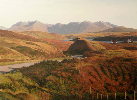 Cuillins Skye Scotland by Rodger Insh