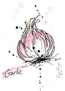 Culinary Herbs - Garlic by Fiona Morgan