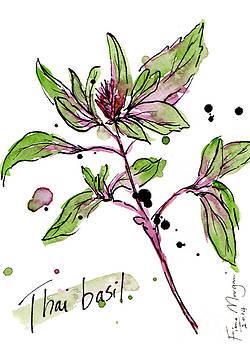 Culinary Herbs - Thai Basil by Fiona Morgan
