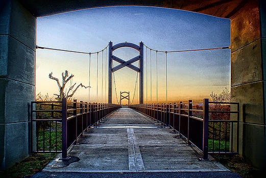 Cumberland River Pedestrian Bridge by Patrick Collins