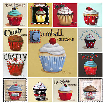 Cupcake Collage by Catherine Holman