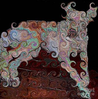 Curly Q Doggie by Annette Allman
