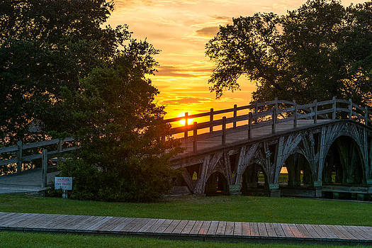 Currituck Bridge Sunset by Dustin Ahrens