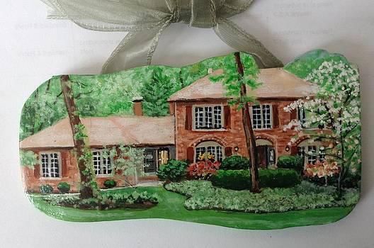 Custom House Painting/Ornament by Sandra Oropeza