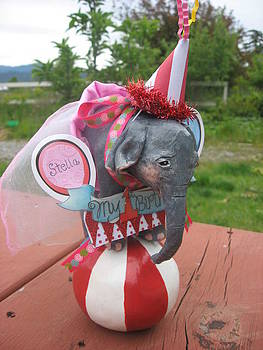 Custom Order Baby Elephant Cake Topper by Sandra Oropeza