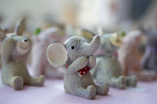 Cute elephants by Andrew Lalchan