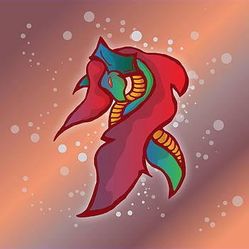 Cute Fire Dragon  by Mellisa Ward