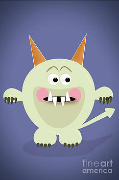 Cute Little Monster by Sharon Dominick