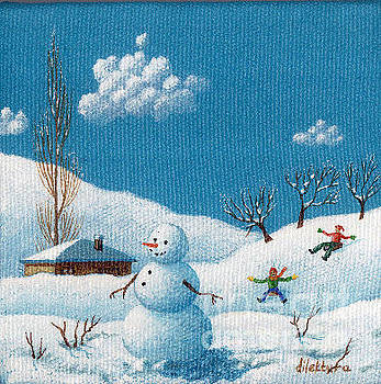 Cute Snowman by Dilek Tura
