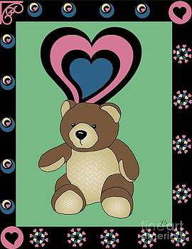 Cute Teddy Bear 4 by Karen Sheltrown