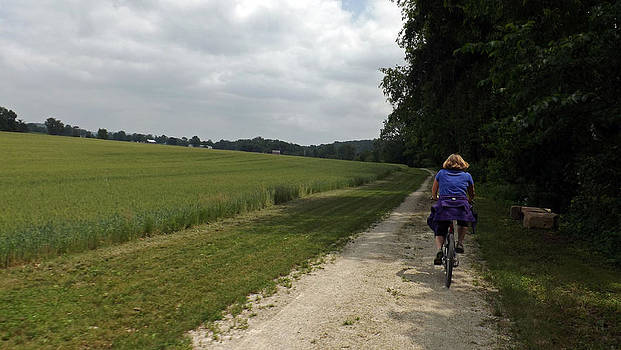 Cycling On Holiday by Joyce  Wasser