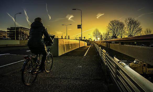 Cycling Over The Bridge by Libor Bednarik