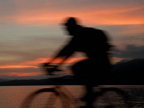 Cyclist in Motion by Brian Chase