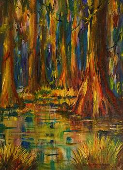 Cypress Trees by Dorothy Allston Rogers