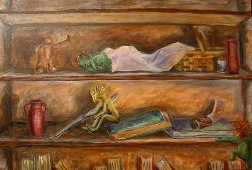 Dad's Bookcase by Sara Hamilton