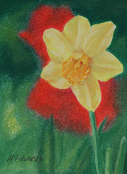 Daffodil and Poppies by Marna Edwards Flavell