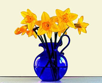 Bishopston Fine Art - Daffodils in a Blue Jug