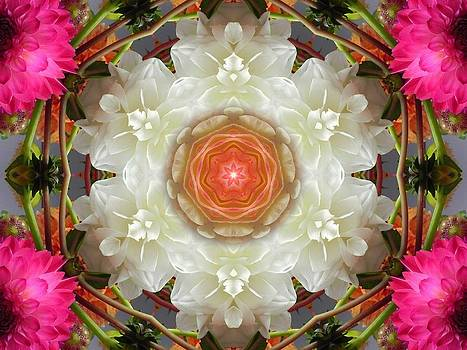 Dahlia Portal Mandala by Diane Lynn Hix