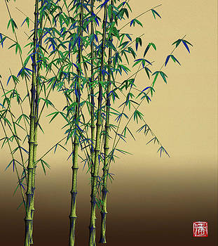 Daily Flower Bamboo - 12-04 by GuoJun Pan