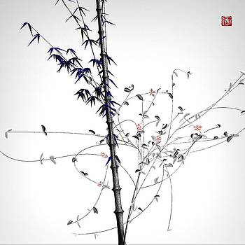 Daily Flower - Bamboo with vines - 12-05 by GuoJun Pan