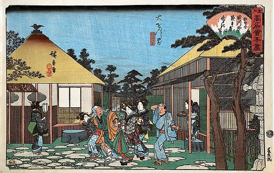 Daisenji Mae Tagawaya by Hiroshige Utagawa
