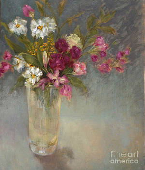 Daisies and Fresia by Kathleen Hoekstra