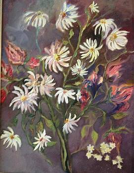 Irene Pomirchy - Daisies and lilies