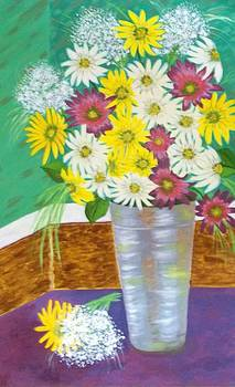 Daisies of joy by Soheila Madani