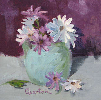Daisies Purple And White by Lori Quarton