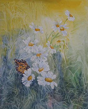 Daisies with Butterfly by Ann Arensmeyer