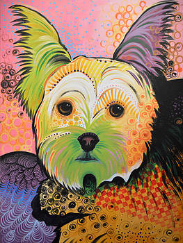 Amy Giacomelli - Daisy Abstract Dog Art ...Yorkshire Terrier