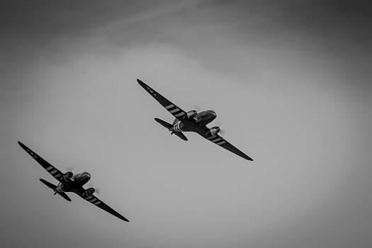 Dakota D-Day Black and White by Scott Lyons