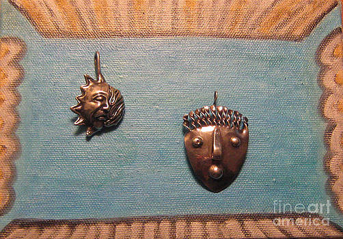 Dali Stop Poking My Eye Eye Separatist Movement Jewelry Art Pair by Lois Picasso
