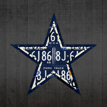 Design Turnpike - Dallas Cowboys Football Team Retro Logo Texas License Plate Art
